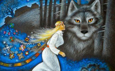 Jookseb koos huntidega